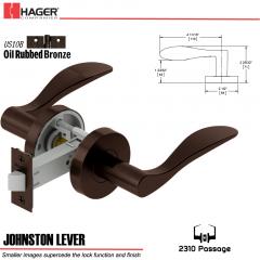 Hager 2310 Johnston Lever Tubular Lockset US10B Stock No 178648