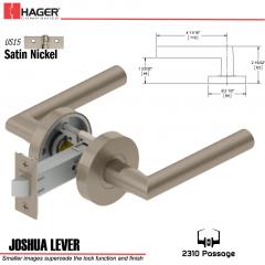 Hager 2310 Joshua Lever Tubular Lockset US15 Stock No 169686