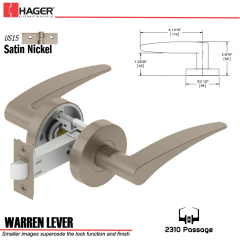 Hager 2310 Warren Lever Tubular Lockset US15 Stock No 169709