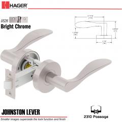 Hager 2310 Johnston Lever Tubular Lockset US26 Stock No 169737
