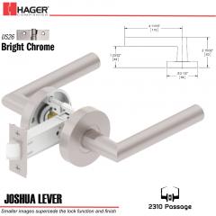 Hager 2310 Joshua Lever Tubular Lockset US26 Stock No 169698