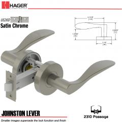 Hager 2310 Johnston Lever Tubular Lockset US26D Stock No 178410