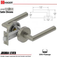 Hager 2310 Joshua Lever Tubular Lockset US26D Stock No 176256