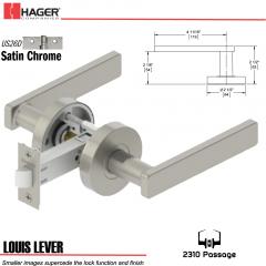 Hager 2310 Louis Lever Tubular Lockset US26D Stock No 169628