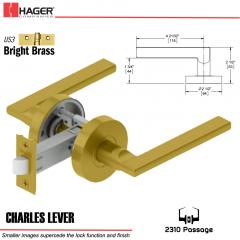 Hager 2310 Charles Lever Tubular Lockset US3 Stock No 169724