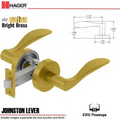 Hager 2310 Johnston Lever Tubular Lockset US3 Stock No 169704