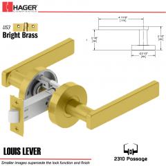 Hager 2310 Louis Lever Tubular Lockset US3 Stock No 169718