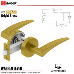 Hager 2310 Warren Lever Tubular Lockset US3 Stock No 169712