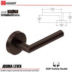 Hager 2327 Joshua Lever Tubular Lockset US10B Stock No 180359