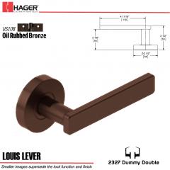Hager 2327 Louis Lever Tubular Lockset US10B Stock No 180386