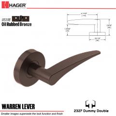 Hager 2327 Warren Lever Tubular Lockset US10B Stock No 180383