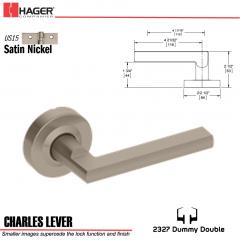 Hager 2327 Charles Lever Tubular Lockset US15 Stock No 180394