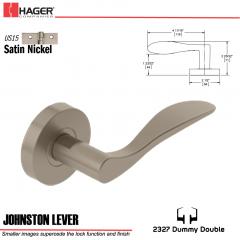 Hager 2327 Johnston Lever Tubular Lockset US15 Stock No 180391