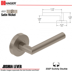 Hager 2327 Joshua Lever Tubular Lockset US15 Stock No 180389