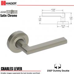 Hager 2327 Charles Lever Tubular Lockset US26D Stock No 180402