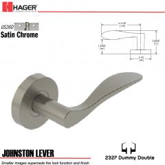 Hager 2327 Johnston Lever Tubular Lockset US26D Stock No 180399