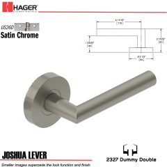 Hager 2327 Joshua Lever Tubular Lockset US26D Stock No 180398