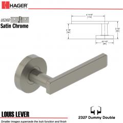 Hager 2327 Louis Lever Tubular Lockset US26D Stock No 180401