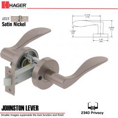 Hager 2340 Johnston Lever Tubular Lockset US15 Stock No 196049