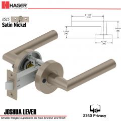 Hager 2340 Joshua Lever Tubular Lockset US15 Stock No 169688