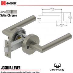 Hager 2340 Joshua Lever Tubular Lockset US26D Stock No 176257