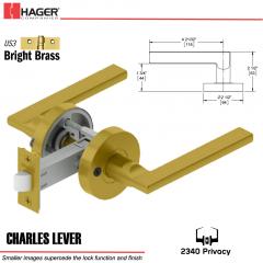 Hager 2340 Charles Lever Tubular Lockset US3 Stock No 169734