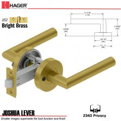 Hager 2340 Joshua Lever Tubular Lockset US3 Stock No 169694