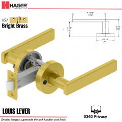 Hager 2340 Louis Lever Tubular Lockset US3 Stock No 169731