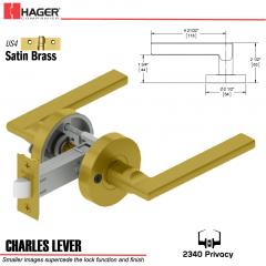 Hager 2340 Charles Lever Tubular Lockset US4 Stock No 169826