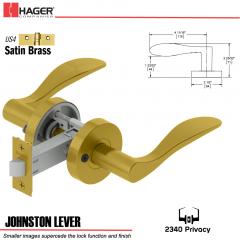 Hager 2340 Johnston Lever Tubular Lockset US4 Stock No 169817