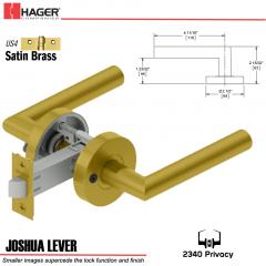 Hager 2340 Joshua Lever Tubular Lockset US4 Stock No 169697