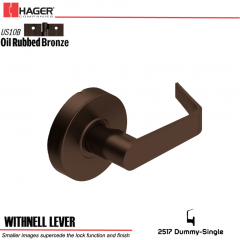 Hager 2517 Withnell Lever US10B Door Lock Stock No 130786