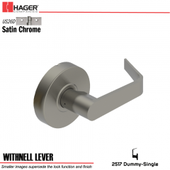 Hager 2517 Withnell Lever US26D Door Lock Stock No 130788