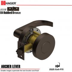Hager 2525 Archer Lever US10B Door Lock Stock No 172714