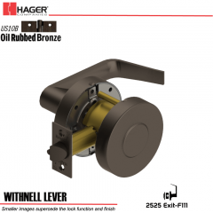 Hager 2525 Withnell Lever US10B Door Lock Stock No 129013