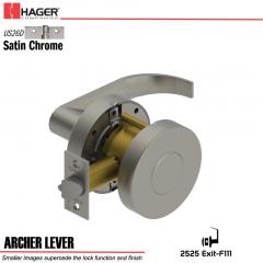 Hager 2525 Archer Lever US26D Door Lock Stock No 151850