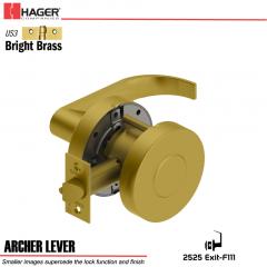 Hager 2525 Archer Lever US3 Door Lock Stock No 145989
