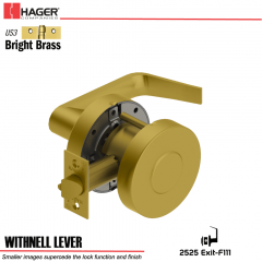 Hager 2525 Withnell Lever US3 Door Lock Stock No 129020