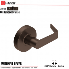 Hager 2527 Withnell Lever US10B Door Lock Stock No 131689