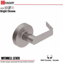 Hager 2527 Withnell Lever US26 Door Lock Stock No 176364