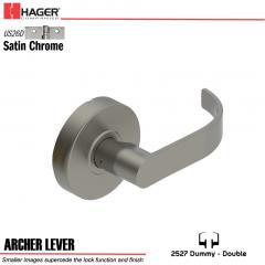 Hager 2527 Archer Lever US26D Door Lock Stock No 131690