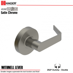 Hager 2527 Withnell Lever US26D Door Lock Stock No 131691