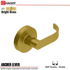 Hager 2527 Archer Lever US3 Door Lock Stock No 131692