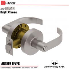 Hager 2540 Archer Lever US26 Door Lock Stock No 170056