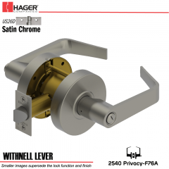Hager 2540 Withnell Lever US26D Door Lock Stock No 135063