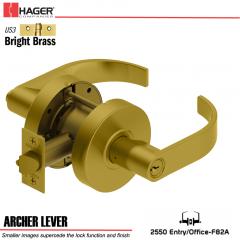 Hager 2550 Archer Lever US3 Door Lock Stock No 167420