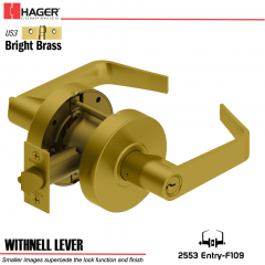 Hager 2553 Withnell Lever US3/US26D Door Lock Stock No 152111