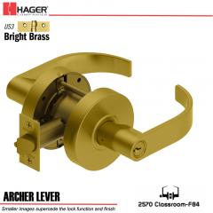 Hager 2570 Archer Lever US3 Door Lock Stock No 129655