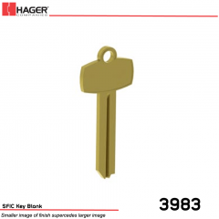 3983 SFIC Key Blank Best A Keyway Stock No 066772