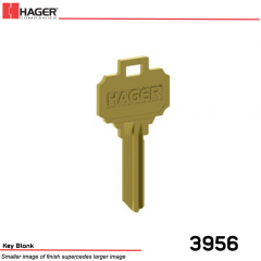 3956 Key Blank 6-Pin  Schlage C Keyway Stock No 096174